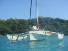 Damian Mac Laughlin USA  Trimaran Mac Laughlin 35'  : Au mouillage en Martinique